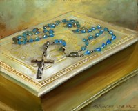 Bible with Cross by Hall Groat II - various sizes, FulcrumGallery.com brand
