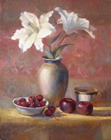 Lilies With Plums and Cherries by Hall Groat II - various sizes