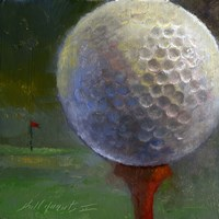 Golf ball Fine Art Print