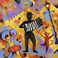 Accordionist by Jim Dryden - various sizes