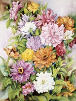 Zinnias Standing Tall by Joanne Porter - various sizes