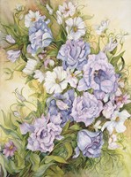 Blue Prairie Gentian And Cosmos by Joanne Porter - various sizes