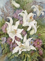 Lilies And Asters by Joanne Porter - various sizes