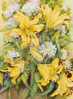 Bright Yellow Lillies Fine Art Print