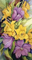 Tulips And Daffodils by Joanne Porter - various sizes, FulcrumGallery.com brand