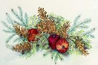 Winter Greens With Apples Fine Art Print
