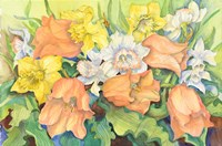 Peach Tulips & Daffodils Fine Art Print