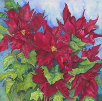 Red Oak Leaf Poinsettias by Joanne Porter - various sizes