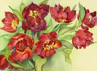 Double Red Tulips by Joanne Porter - various sizes