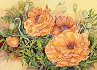 Double Poppies by Joanne Porter - various sizes, FulcrumGallery.com brand