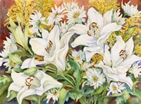 Lilies and Daisys by Joanne Porter - various sizes