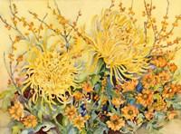 Fall Chrysanthumums Fine Art Print