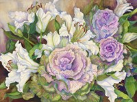 Lilies With Ornamental Cabbage by Joanne Porter - various sizes