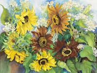 Queen Anne Lace & Sunflowers by Joanne Porter - various sizes - $29.99