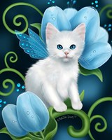 Aquamarine Cat Fine Art Print