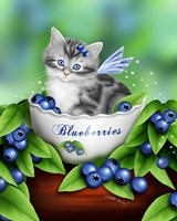 Blueberry Kitten Fine Art Print