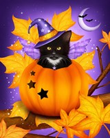 Pumpkin Cat Magic by Melissa Dawn - various sizes