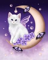Twilight Moon Pearls Framed Print