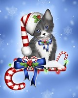 Candy Cane Kitten Fine Art Print