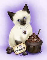 Chocolate Cupcake Kitten Fine Art Print