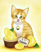 Lemon Cupcake Kitten by Melissa Dawn - various sizes