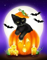 Halloween Kitty Fine Art Print