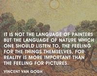 Language of Painters - Van Gogh Quote Fine Art Print