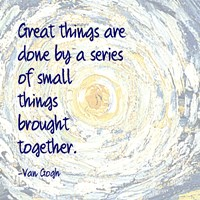 Great Things -Van Gogh Quote 2 by Quote Master - various sizes