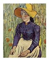 Portrait of Einer Jungen Bauerin by Vincent Van Gogh - various sizes
