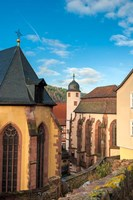Evangelische Stiftskirche and St Killian's Chapel Fine Art Print