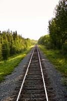 Manitoba Train Tracks by Michael DeFreitas - various sizes, FulcrumGallery.com brand