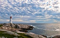 Lighthouse in Peggys Cove, Nova Scotia Fine Art Print