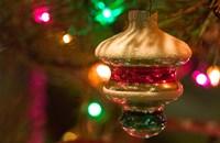 Christmas Tree Ornaments Fine Art Print