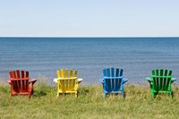 Beach Chairs on Prince Edward Island Fine Art Print