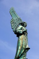 View of Angel in Quebec, Montreal Fine Art Print