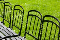 Park Benches in Palace Gardens, Austria Fine Art Print