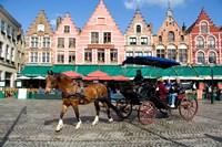 Medieval Market Square, Belgium Fine Art Print