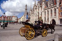 Horsedrawn Carriage Ride, Belgium Fine Art Print