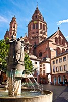 Saint Martin's Cathedral, Mainz, Germany Fine Art Print