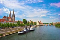 Old Town Skyline, Regensburg, Germany Fine Art Print