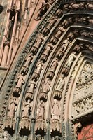 Details of the East Facade, Cathedrale Notre Dame Fine Art Print