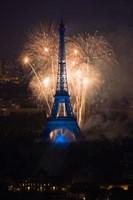 Fireworks at the Eiffel Tower Fine Art Print