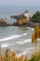 Surfers on the Bay of Biscay, France Fine Art Print