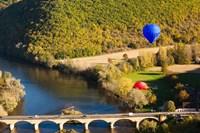 Hot Air Balloon, Chateau de Castelnaud Fine Art Print