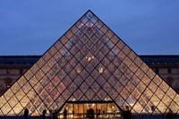 Pyramid, Louvre, Paris, France Fine Art Print