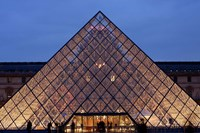 Pyramid, Louvre, Paris, France Fine Art Print
