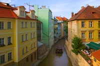 Historical Buildings and Canal, Czech Republic Fine Art Print
