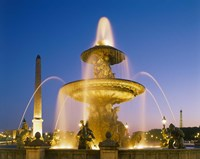 Place de la Concorde, Paris, France Fine Art Print