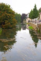 River Serein Flowing Through Chablis in Bourgogne, France Fine Art Print