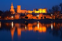 Pope's Palace in Avignon and the Rhone River Fine Art Print